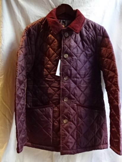 LAVENHAM Quilted Jacket Made in England Wine