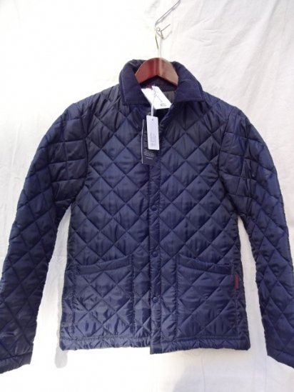 LAVENHAM Quilted Jacket Made in England Navy/Black