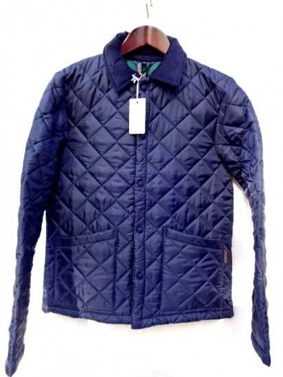 LAVENHAM Quilted Jacket Made in England Navy/Green