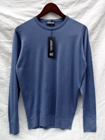 John Smedley Extra Fine Merino Wool Knit T3814 PULLOVER Made in England