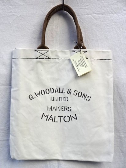 G.Woodall & Sons 14oz Cotton Canvas TOTE Made in England White