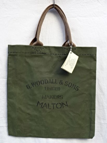 G.Woodall & Sons 14oz Cotton Canvas TOTE Made in England Olive