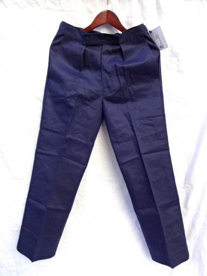 70 〜80's  Vintage Dead Stock Royal Navy Trousers Working Dress Blue/1