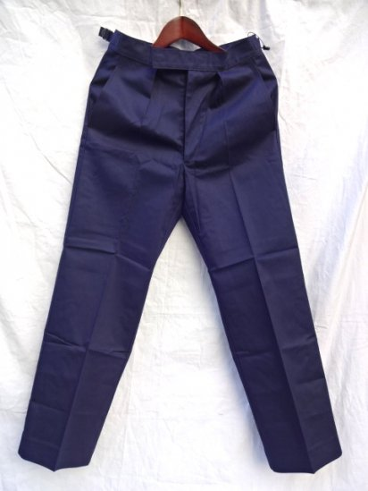 70 〜80's  Vintage Dead Stock Royal Navy Trousers Working Dress Blue/2