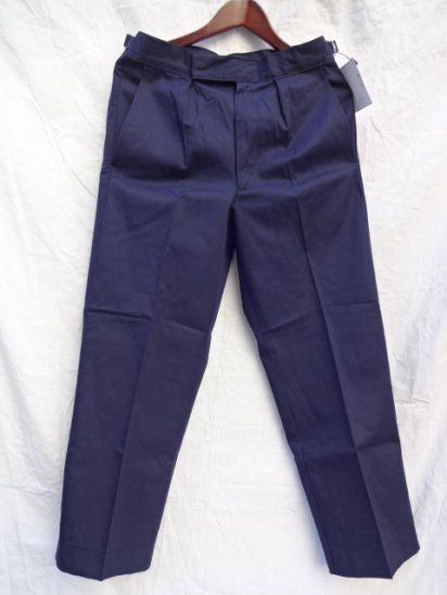 70 〜80's  Vintage Dead Stock Royal Navy Trousers Working Dress Blue/3