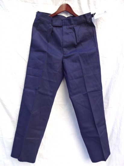 70 〜80's  Vintage Dead Stock Royal Navy Trousers Working Dress Blue/4
