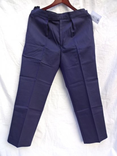70 〜80's  Vintage Dead Stock Royal Navy Trousers Working Dress Blue/7