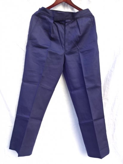 70 〜80's  Vintage Dead Stock Royal Navy Trousers Working Dress Blue/8