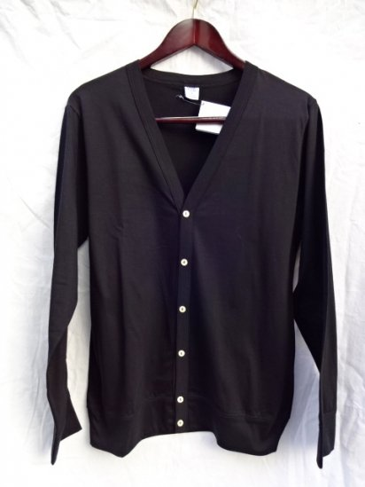 Gicipi Cotton Jersey Cardigan Made in Italy Black