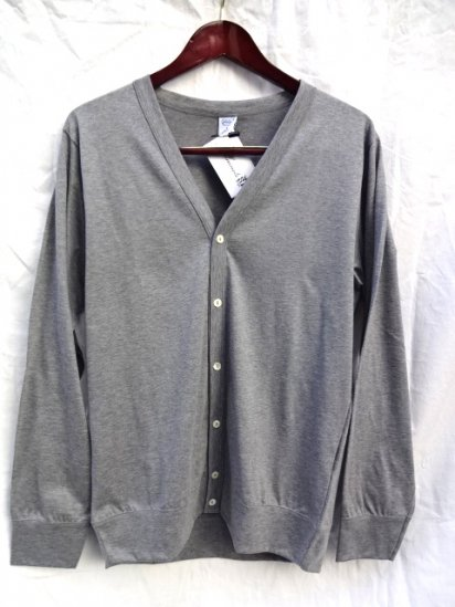 Gicipi Cotton Jersey Cardigan Made in Italy Gray