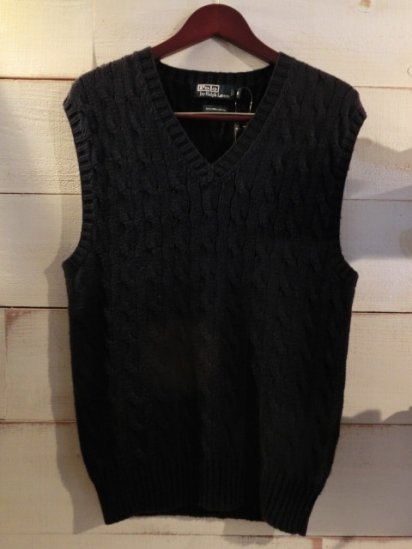 Ralph Lauren Cotton Knit Vest<BR>SALE! 7,800 + Tax → 4,680 + Tax