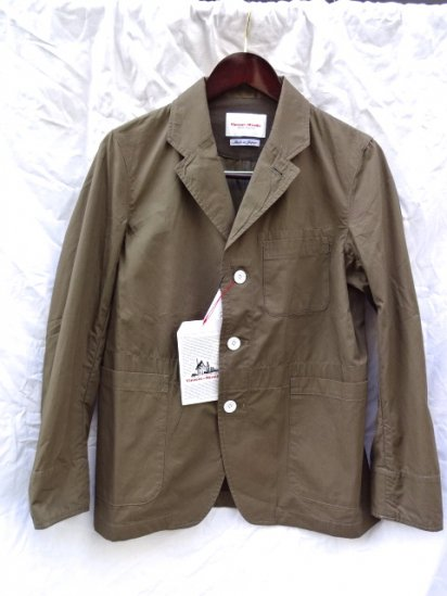 Vincent et Mireille Cotton Poplin Work Jacket Olive<BR>SALE!! 18,500→ 12,950 + Tax