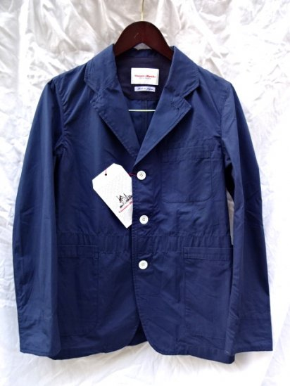 Vincent et Mireille Cotton Poplin Work Jacket Navy
