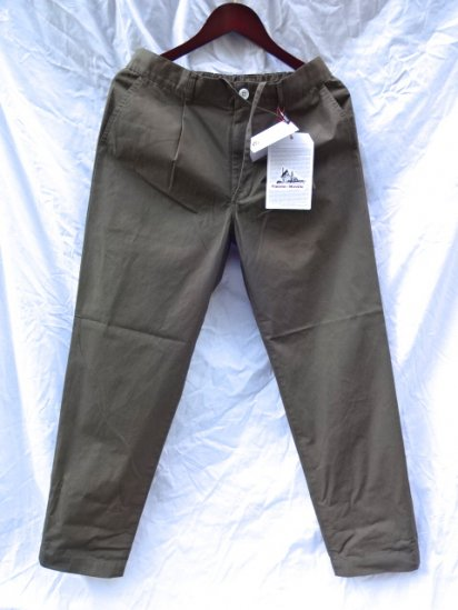Vincent et Mireille Cotton Poplin Pants Olive
