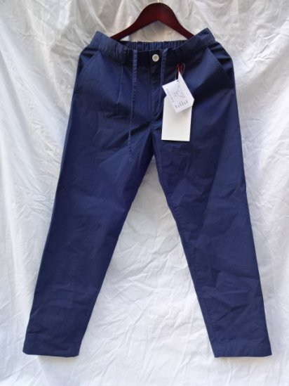 Vincent et Mireille Cotton Poplin Pants Navy