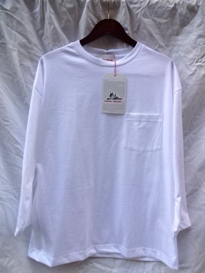 Vincent et Mireille  3/4 Sleeve Big Tee Made in France White