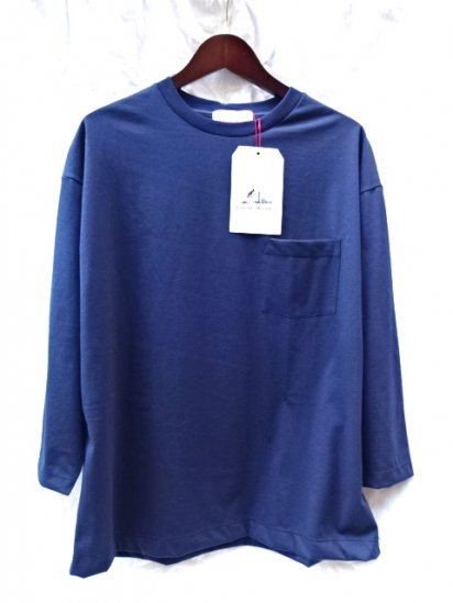 Vincent et Mireille  3/4 Sleeve Big Tee Made in France Navy
