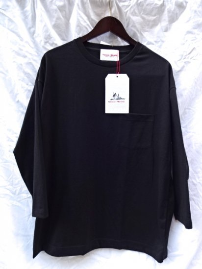 Vincent et Mireille  3/4 Sleeve Big Tee Made in France Black