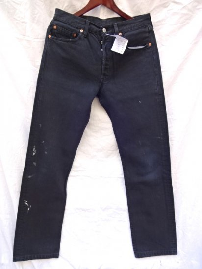 90's Old Levi's 501 Made in U.K Black / 2