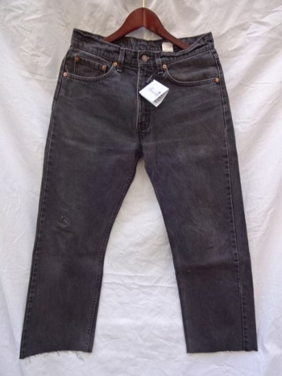 90's Old Levi's 505 Black Made in U.S.A /4