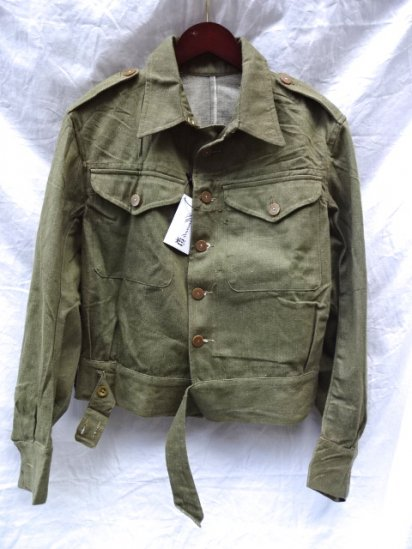〜50's Vintage Dead Stock British Army Battledress Uniform/ <br>Overall Denim Blouses/2