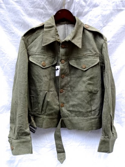 〜50's Vintage Dead Stock British Army Battledress Uniform/ <br>Overall Denim Blouses/1