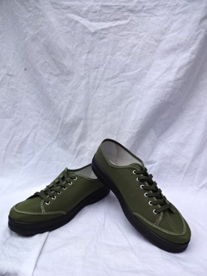 JAVERFLEX Canvas Shoes MADE IN FRANCE Olive