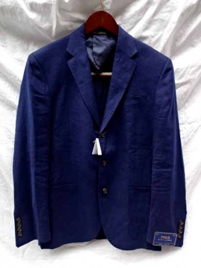 Ralph Lauren 3 Button Linen Jacket Made in USA