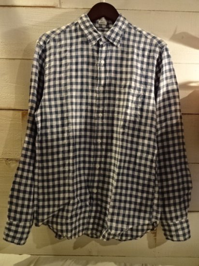 J.Crew Linen Gingham Shirts<BR>SALE! 7,800 + Tax → 3,900 + Tax