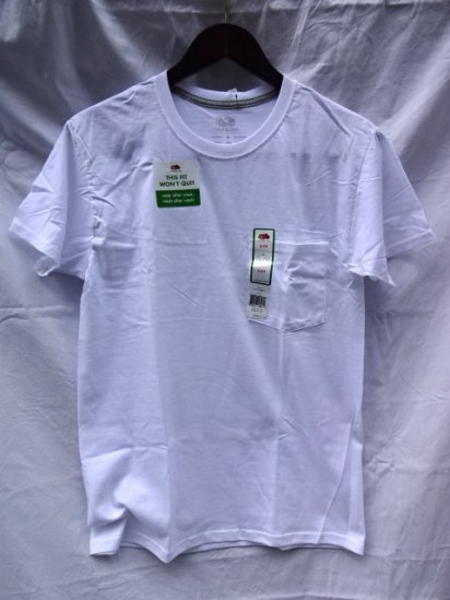 Fruit of the Loom Pocket Tee White