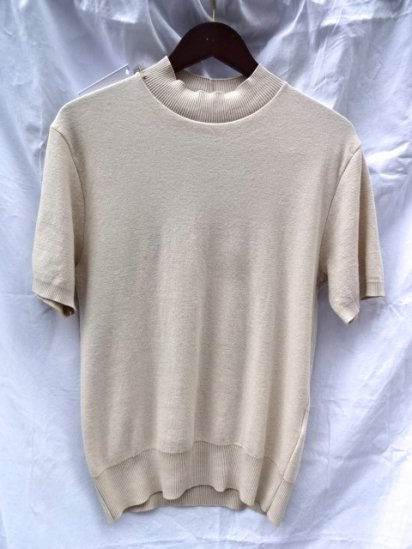 Gicipi Cotton Knit Mock Neck S/S Made in Italy