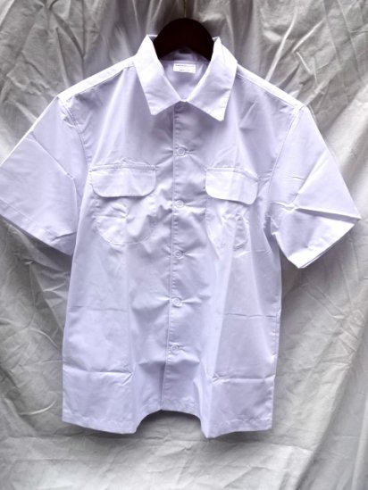 Uniform World Open Collar Shirts Made in ENGLAND White