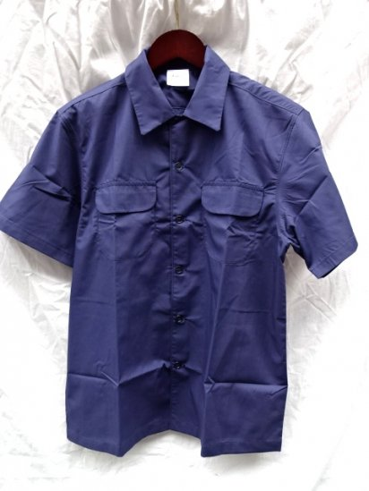 Uniform World Open Collar Shirts Made in ENGLAND Navy