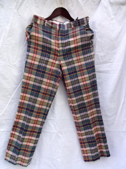 80's Vinatge MADRAS Check Pants Made in U.S.A