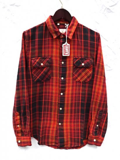 LVC (LEVI'S VINTAGE CLOTHING) SHORTHORN Flannel Shirts Red Check