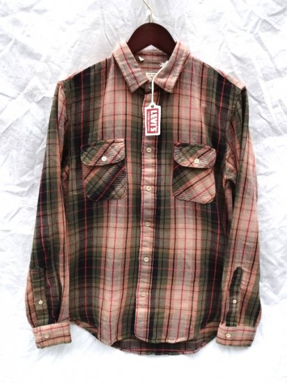 LVC (LEVI'S VINTAGE CLOTHING) SHORTHORN Flannel Shirts Pink Check