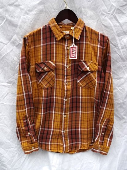 LVC (LEVI'S VINTAGE CLOTHING) SHORTHORN Flannel Shirts Brown Check