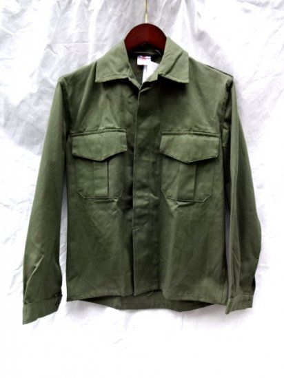 80's Vintage Dead Stock Belgium Army Utility Jacket Cotton Satin