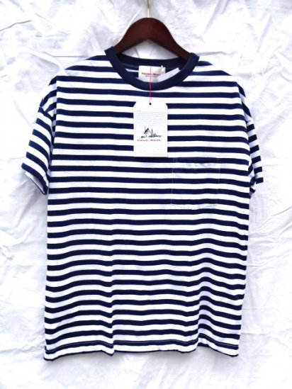 Vincent et Mireille  Big Tee Made in France Navy/White
