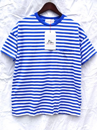 Vincent et Mireille  Big Tee Made in France Blue/White