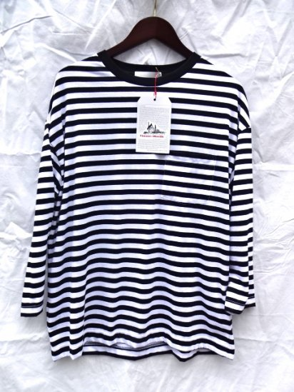 Vincent et Mireille  3/4 Sleeve Big Tee Made in France Black / White
