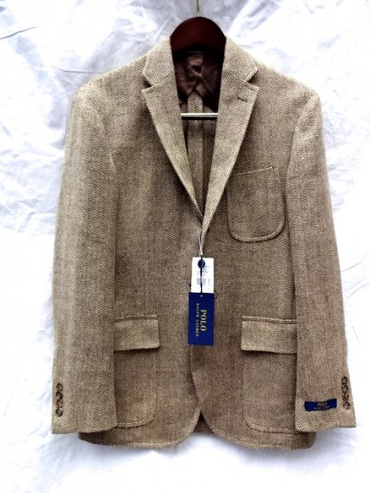 Ralph Lauren Linen x Silk Light Tweed 3B Jacket Made in Italy