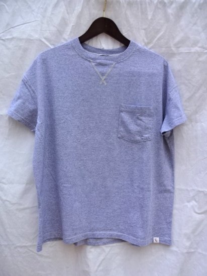 Cal Cru Relaxed Fit Front V Gusset Pocket Tee Made in U.S.A Gray