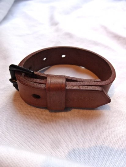 40's Vintage Dead Stock 1942 Dated British Army Leather Utility Strap/A