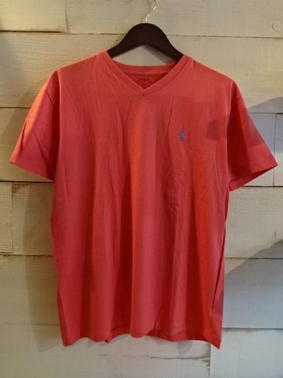 Ralph Lauren One Point V-Neck Tee<BR>SALE! 3,800 + Tax → 1,900 + Tax