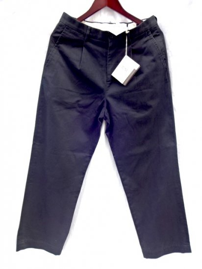 RICCARDO METHA Cotton Twill 1Tac Trousers Made in Italy Black