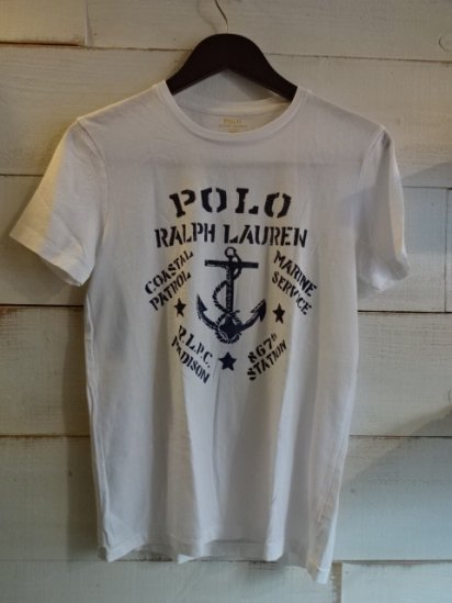 Ralph Lauren Crew Neck Print Tee<BR>SALE! 4,800 + Tax → 2,400 + Tax