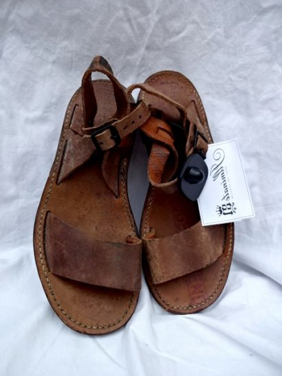 50's Vintage French Army Leather Sandal Dead Stock?