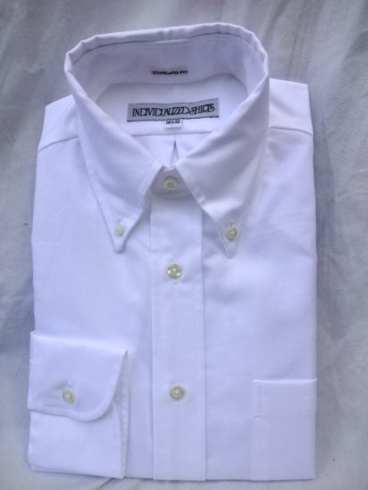 INDIVIDUALIZED SHIRTS Oxfored Shirts Standard Fit MADE IN U.S.A <BR>White