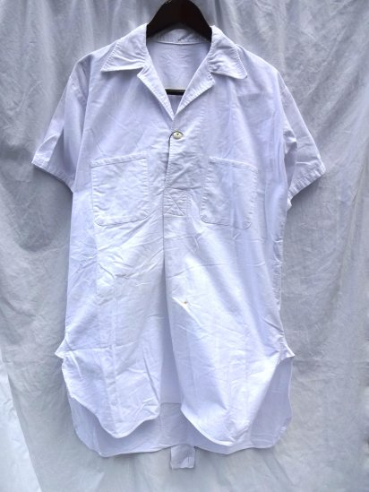 60's Vintage Royal Navy Shirts Mans White Tropical